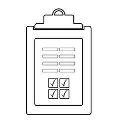 Business checklist icon image vector
