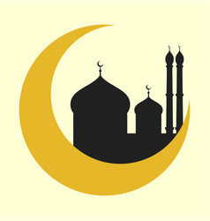 Cathedral muslim church temple traditional vector