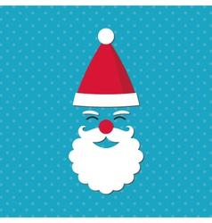 Christmas card with Santa face vector