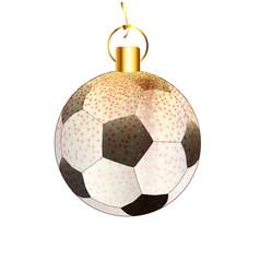 Christmas decoration football vector