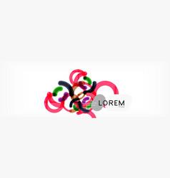 Circular lines design background vector
