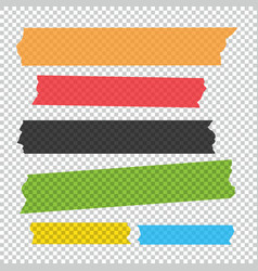 Collection of adhesive tape pieces set vector