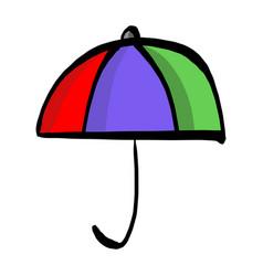 colorful umbrella sketch hand drawn vector image