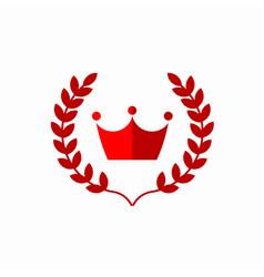 Crown template design vector