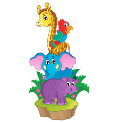cute african animals theme image 3 vector image