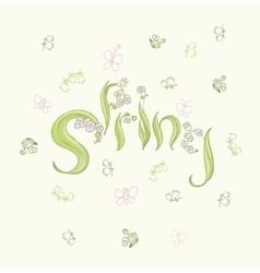 Cute cartoon butterflies and flowers in vector image