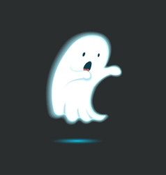 Cute Ghost Single 6 vector image