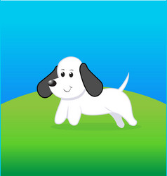 Cute little dog cartoon vector
