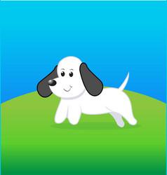cute little dog cartoon vector image