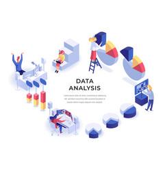 data isometric vector image