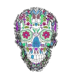 Day Of The Dead Skull on a background vector image