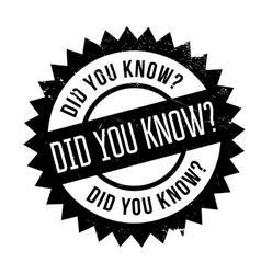 Did you know stamp vector image