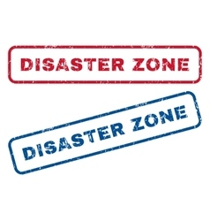 Disaster zone rubber stamps vector