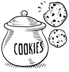 Doodle cookie jar vector
