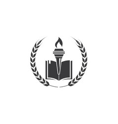 Education and torch logo vector