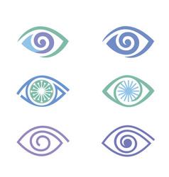 eye icons set vector image