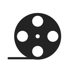 Film roll glyph icon vector