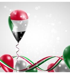 Flag of Sudan on balloon vector