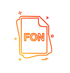 Fon file type icon design vector