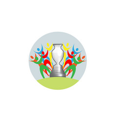football cup 2020 sports trophy concept logo vector image