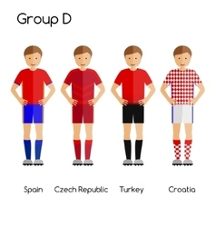 Football team players Group D - Spain Czech vector