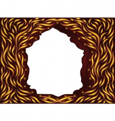 frame magic wood vector image