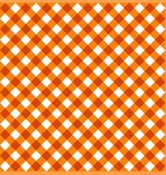 Halloween orange tablecloth seamless pattern vector