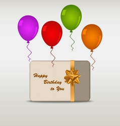 Happy birthday card with ballons vector image
