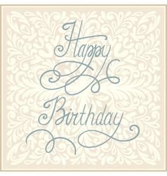 Happy birthday greeting card vector