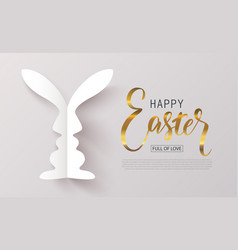 happy easter bannerfull of lovebackground with vector image