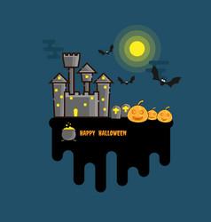 happy halloween background flat design vector image