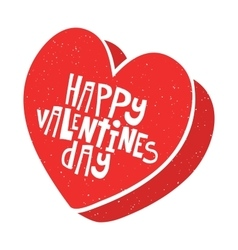Happy Valentines Day candy box vector image