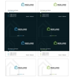 house logo business card 2 vector image