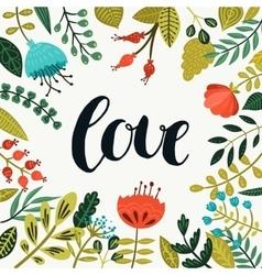 Inspirational love card vector