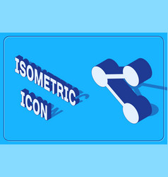 Isometric share icon isolated on blue background vector