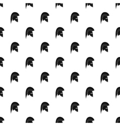Knight helmet pattern simple style vector