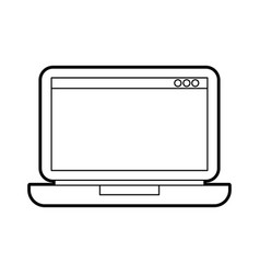 laptop technology device digital electronic vector image