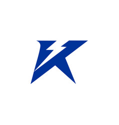 letter k electric logo icon design template vector image