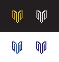 Letter m logo vector