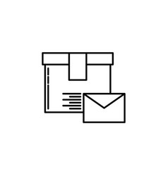 letter parcel signs and symbols can be used for vector image