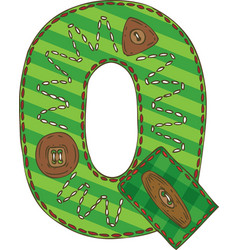 Letter q in patchwork style vector