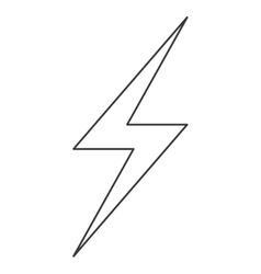 lightning ray icon vector image