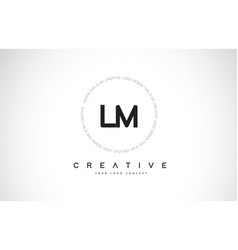 Lm l m logo design with black and white creative vector