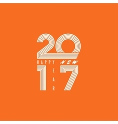 Logo 2017 Happy New Year monogram lines text fire vector image