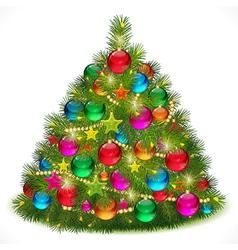 Lush Christmas tree vector