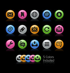 messages icons - gelcolor series vector image