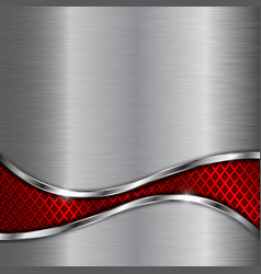 metal background with red steel perforated wave vector image