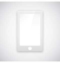Paper mobile phone icon with shadow vector image