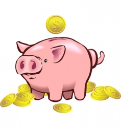 piggy bank moneybox vector image
