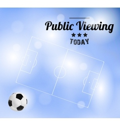 Public Viewing vector image